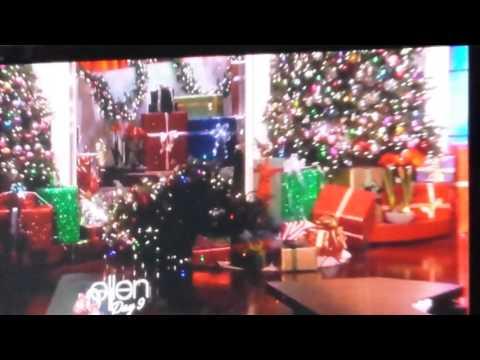 Ellen's Audience Touchdown Dance Christmas Tree