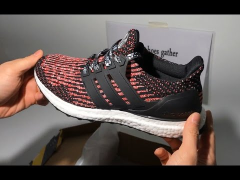 UA Adidas Ultra Boost 3 0 Pink Black Sneaker Shoes Unboxing Review