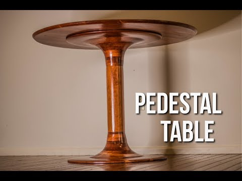 Building a modern pedestal table