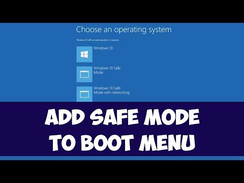 Add Safe mode to boot menu on Windows 10