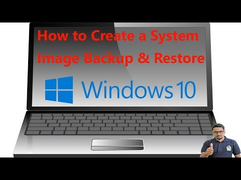 Hindi || How to Create a System Image Backup & Restore in Windows 10