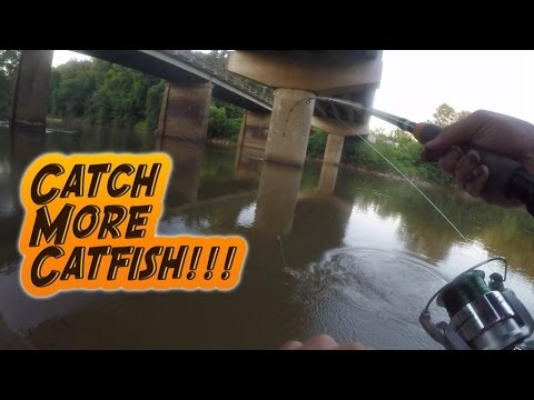 Catfish Love Structure! How To Catch Catfish Near Bridges!