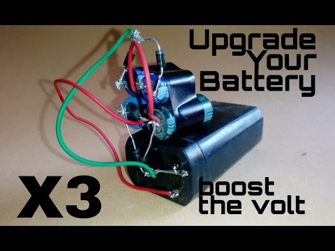 How to upgrade a battery ,boost the volt