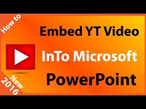 How to Embed a YouTube Video into a Microsoft PowerPoint Slide