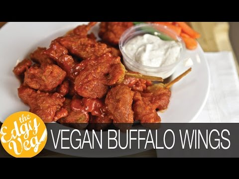How to Make VEGAN Buffalo Hot Wings | Vegetarian Chicken Wings | The Edgy Veg