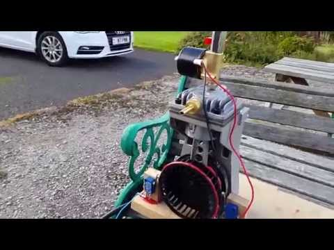 Compressed air engine part 2 first test