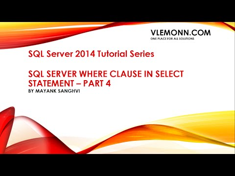 SQL Server Where Clause Part 4