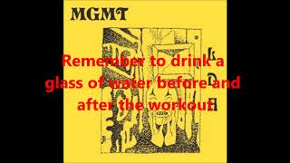 Mgmt - She Works Out Too Much (lyrics)