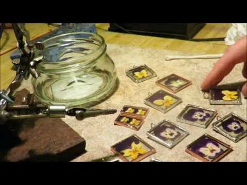 DIY Glass Pendant Tutorial Part 2 of 2 Soldering and Jump Ring  V8