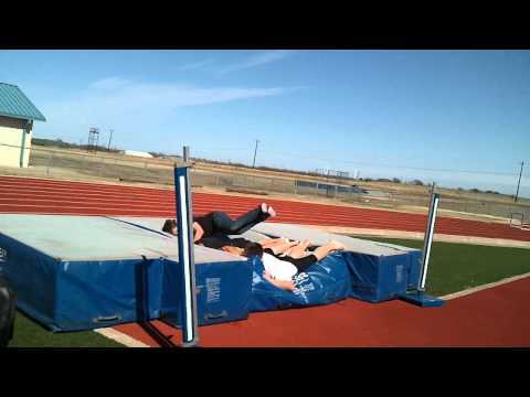 Messing around on the highjump mats