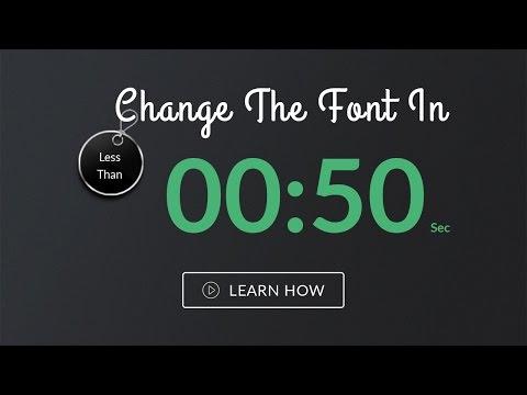 Change font on full website from Sass - 'Salt' | Multi-purpose HTML Website Template