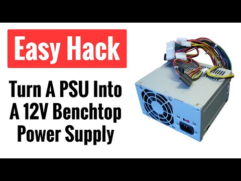 How to Hack a Computer Power Supply (PSU) To Use as a 12V DC Power Source