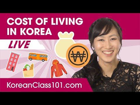 Cost of Living in South Korea | Learn Korean