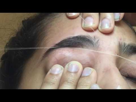 Crazy pain | eyebrow threading | first time