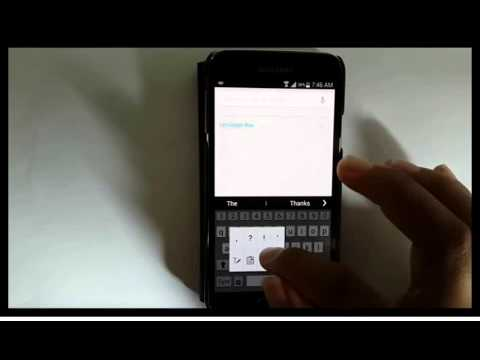 Samsung Galaxy S5 : How to turn off autocorrect (Android Phone)