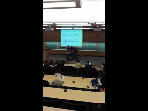 CSC106 class - demo from mecatronics students