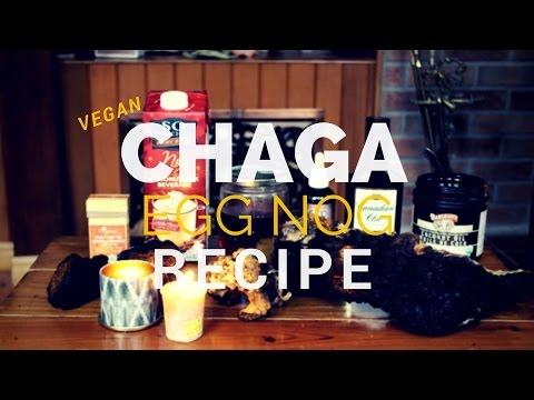 Chaga Mushroom Recipe | Vegan Egg Nog with Reishi Mushroom