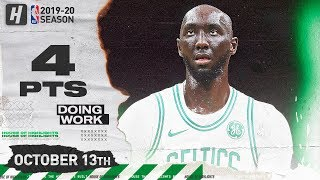 Tacko Fall SHOWS UP! Full Highlights vs Cavaliers (2019.10.13) - 4 Points in 6 Minutes!