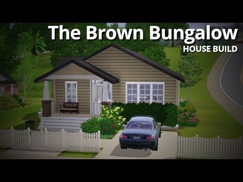 The Sims 3 House Building - The Brown Bungalow