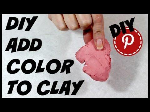DIY Add Color To Clay - DIY Pinterest