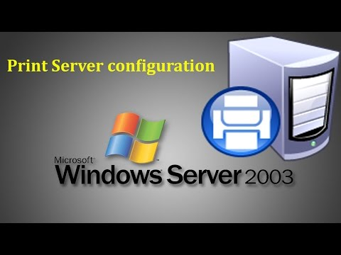 Server 2003 - How to configure Print Server and add Printers in Windows Server 2003