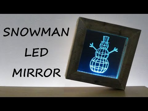 How to Make a Snowman  LED Mirror
