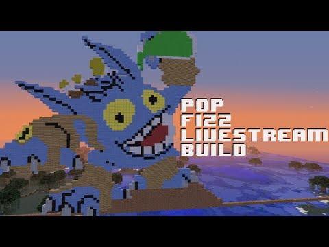 Skylanders Giants Pop Fizz - Livestream Pixel Art Build (Minecraft)