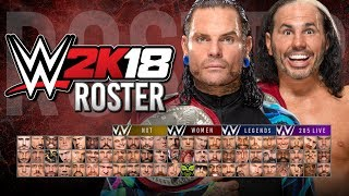 WWE 2K18 Roster - All Superstars, NXT, 205 Live, Legends & Women