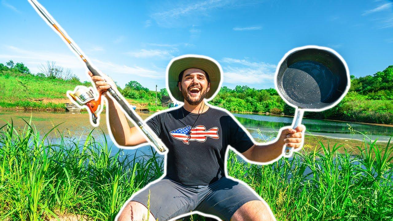 Backyard Pond CATFISHING Challenge!!! (CATCH CLEAN COOK)