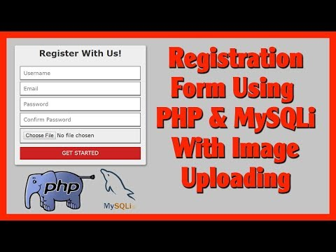 Registration Form Using PHP and MySQLi With Image Uploading | Part 1