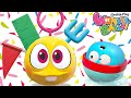 Play amp Learn Art Crafts With Squishy Wonderballs Colorful Crayon Balls Funny Cartoons For Kids