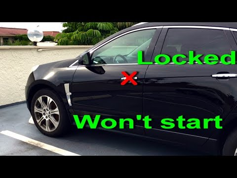 NO Remote Detected Cadillac SRX 2010-12 won't start keyless entry locked door CTS