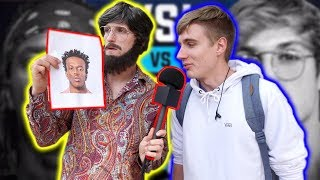 ASKING COLLEGE STUDENTS WHO WILL WIN THE KSI VS. LOGAN PAUL FIGHT! (disguised)