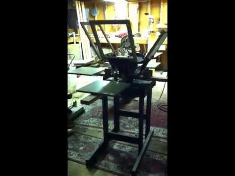 DIY 4 color, 4 platen silk screen press