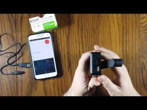Eton BoostTurbine 2000 External Battery Pack Charger Unbox and Review