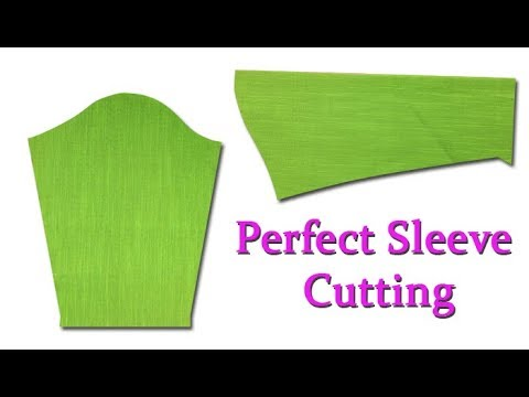 Perfect Sleeve cutting and stitching easy method for beginners, DIY Hindi tutorial