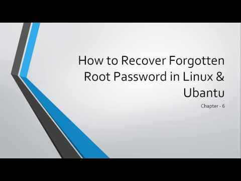 How to recover forgotten root password in Ubantu & Linux