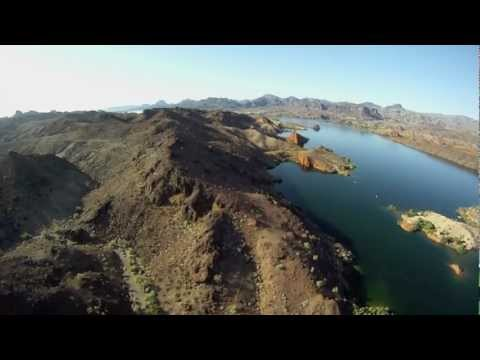 Flying over Parker and Lake Havasu AZ