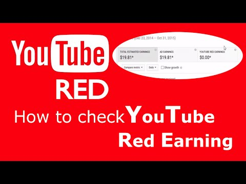 YouTube Red - Check YouTube Red earning
