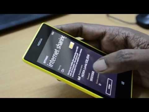 Share 2G, 3G internet on Nokia Lumia 520 using WiFi Hotspot