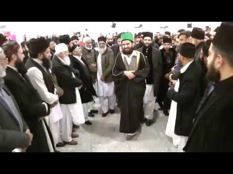 Eidgah Sharifuk Shayukh of Eidgah Sharif Arrival at Heathrow Airport 15/01/15