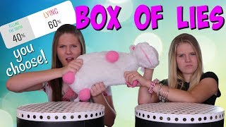 INSTAGRAM CONTROLS OUR BOX OF LIES || TRY NOT TO CHOOSE THE WRONG ANSWER || Taylor and Vanessa