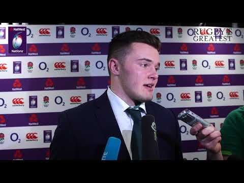 Jacob Stockdale speaks to reporters after England 15-24 Ireland | NatWest 6 Nations