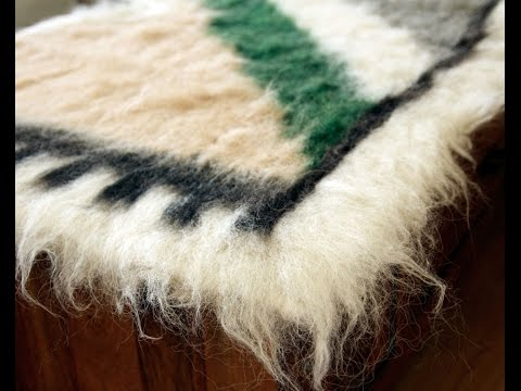 Hutsul Blankets of wool made of sheep.