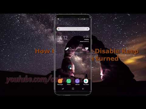 Android Nougat : How to Enable or Disable Keep Mobile data turned on in Samsung Galaxy S8 or S8+