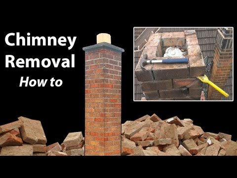 Removing a Chimney Below Roof Level - How to