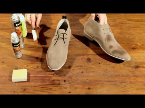 Collonil UK - How to Clean light Nubuk & Suede leather shoes