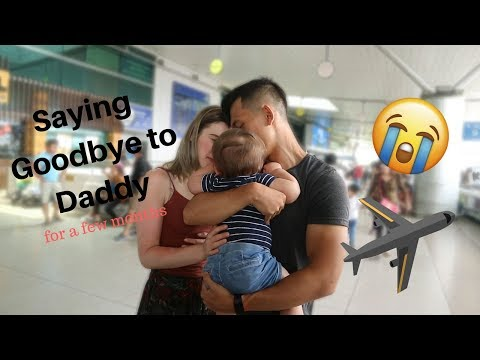 BABY SAYING GOODBYE TO DADDY || LONG DISTANCE PARENTING || TRIGGER WARNING: Gets Emotional