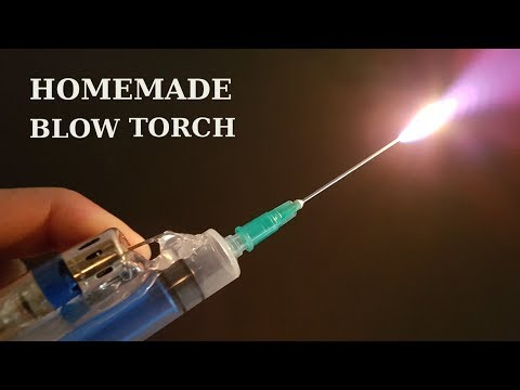 How to make Blow Torch using Lighter and a Syringe