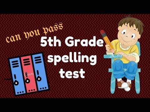 spelling Test For 5th grade